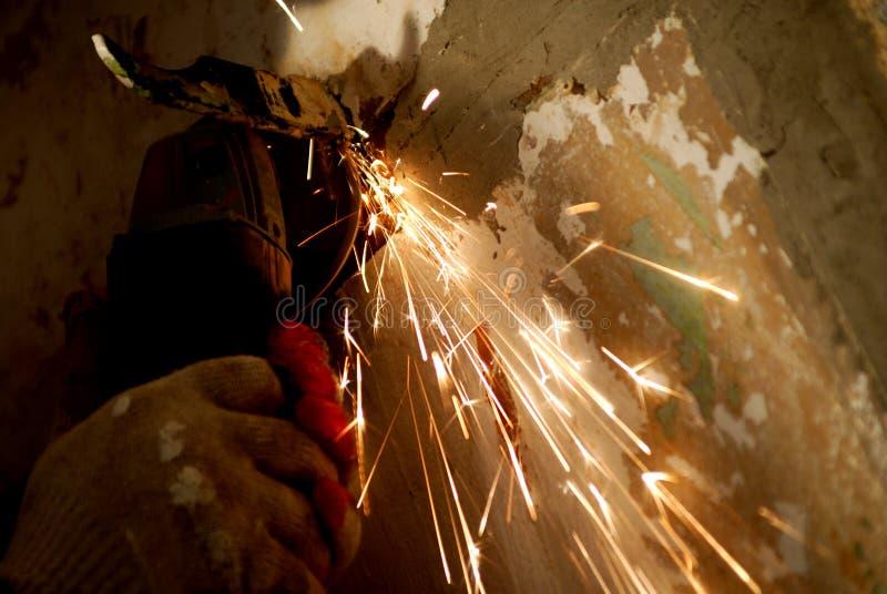 Download Cutting metal stock image. Image of working, metal, work - 4217707