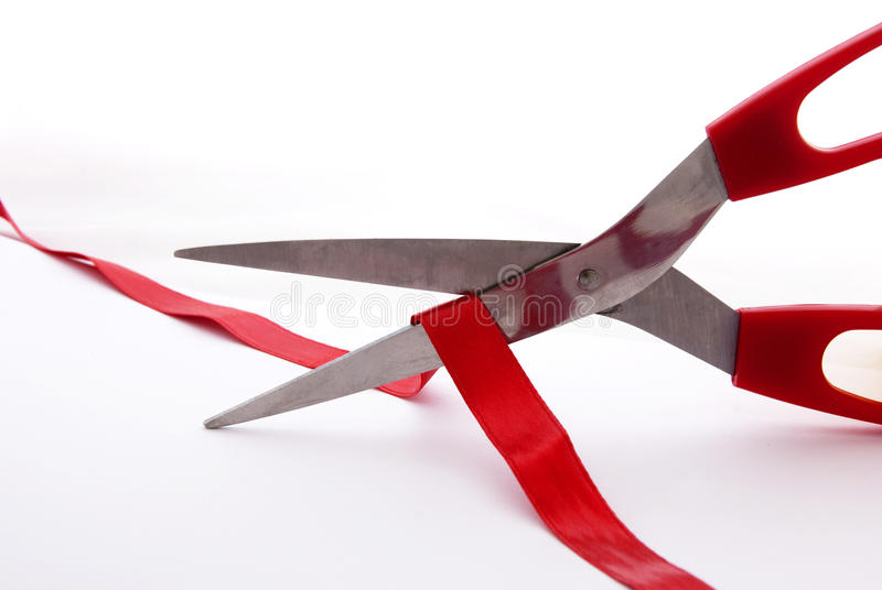 Download Cutting Red Ribbon Royalty Free Stock Photo - Image: 13538065