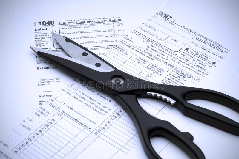 Download Cutting Taxes stock photo. Image of calculator, forms - 3920430