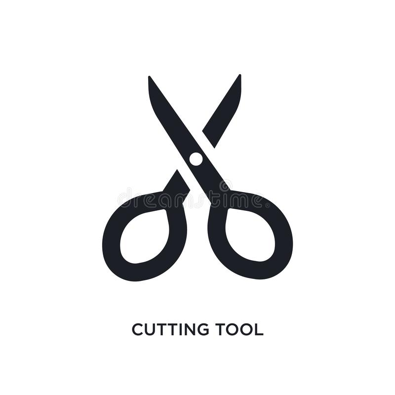 cutting tool isolated icon. simple element illustration from sew concept icons. cutting tool editable logo sign symbol design on vector illustration