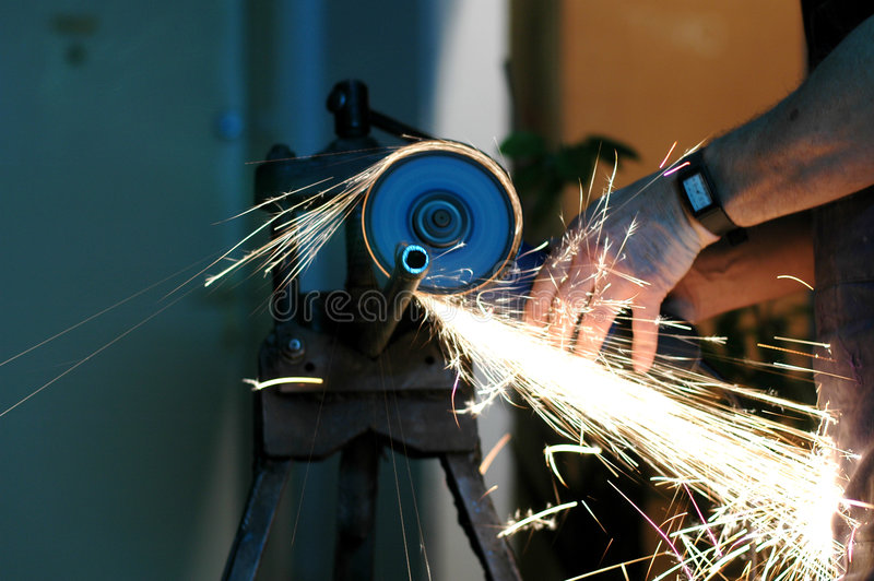 Cutting water pipes royalty free stock photos