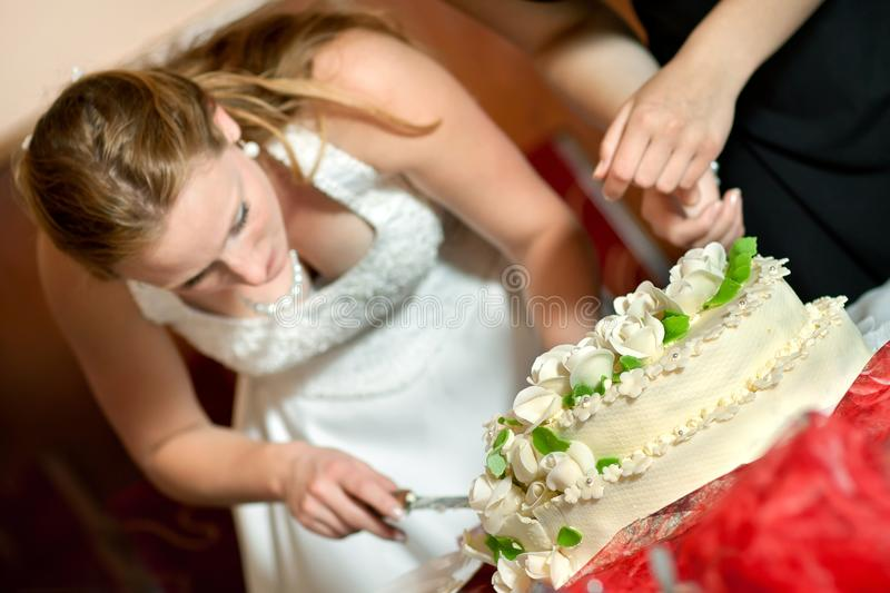 Download Cutting The Wedding Cake Stock Images - Image: 27188754