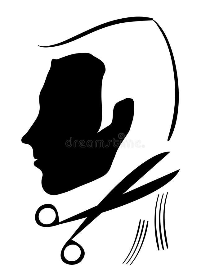cuttinghårhairdress vektor illustrationer