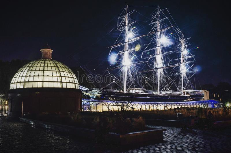 The Cutty Sark at Greenwich stock photo