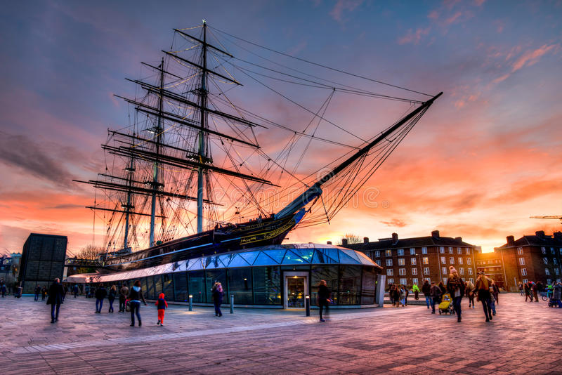 Cutty Sark Sunset royalty free stock photography