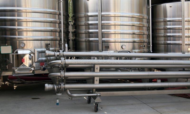 Cuves de fermentation image stock