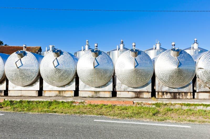 Cuves de fermentation images stock