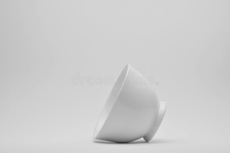 Cuvette blanche de céramique photo stock