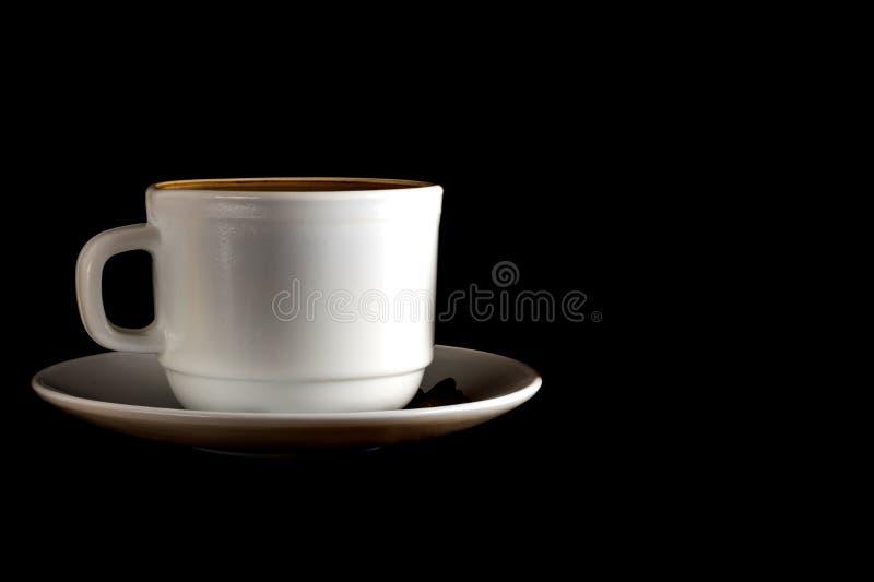 Cuvette blanche de caf? chaud photo libre de droits