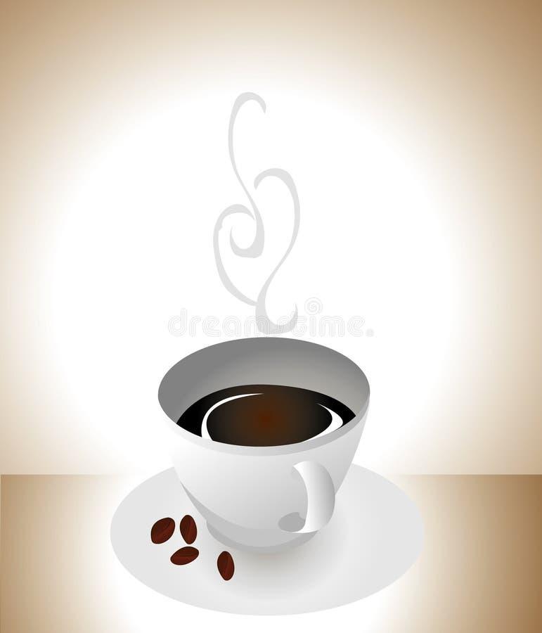 cuvette blanche de coffe. illustration libre de droits