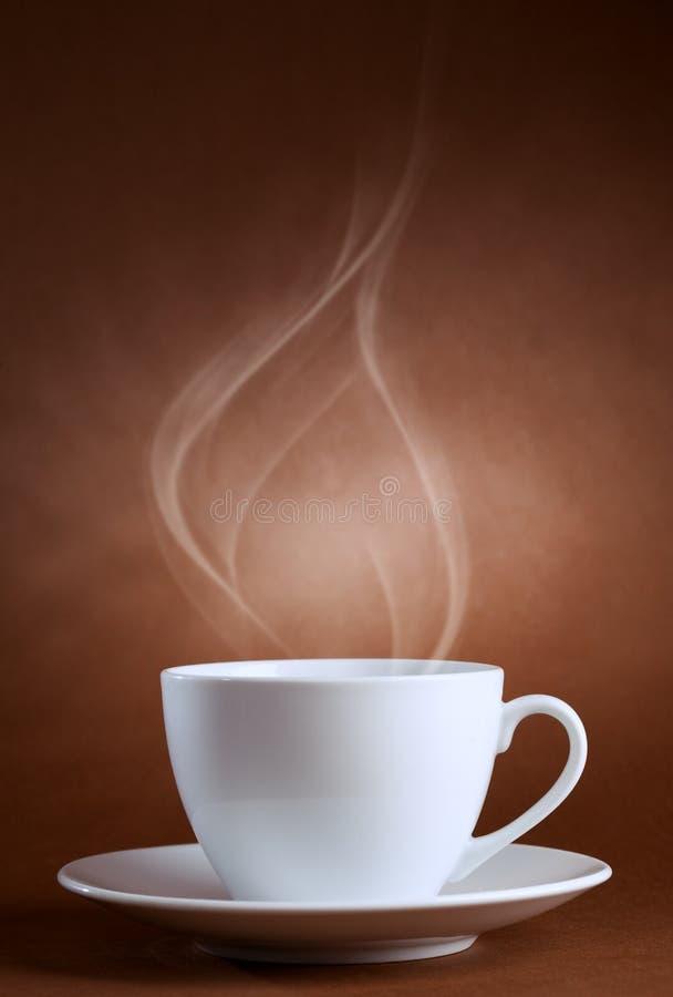Cuvette chaude de ciffee image stock