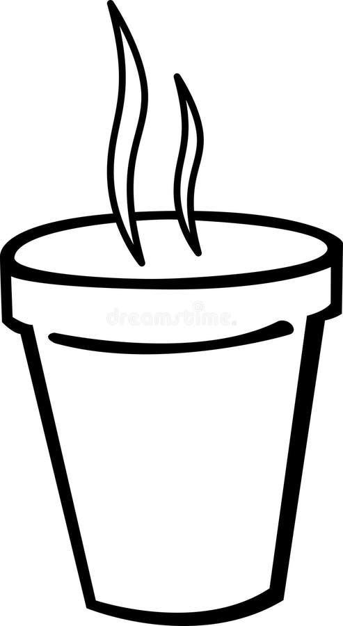 Cuvette chaude de mousse de styrol de café illustration stock