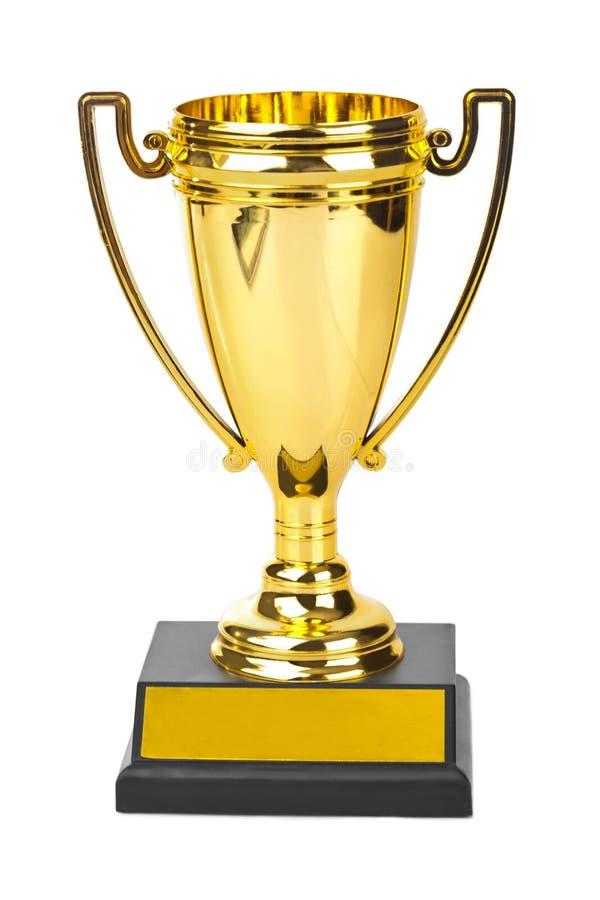 Cuvette d'or de trophée photo libre de droits