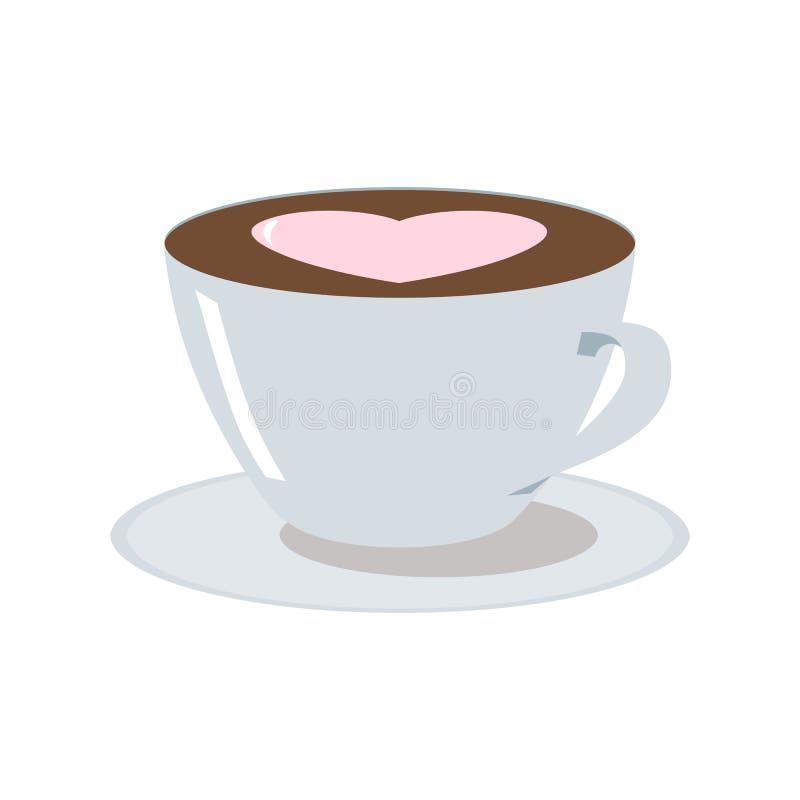 Cuvette d'illustration de café illustration stock