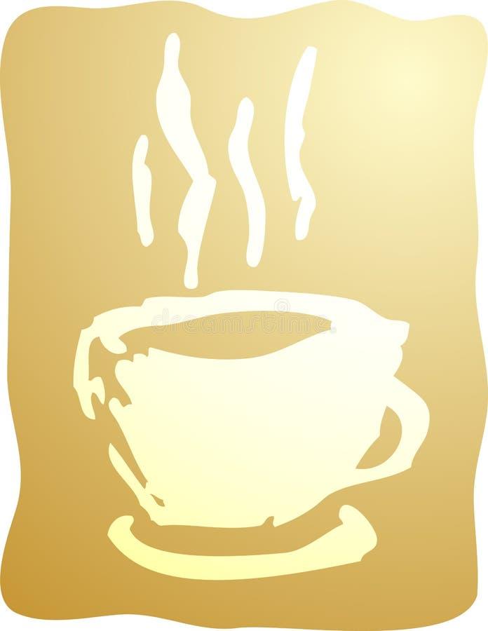 Cuvette d'illustration de café illustration libre de droits