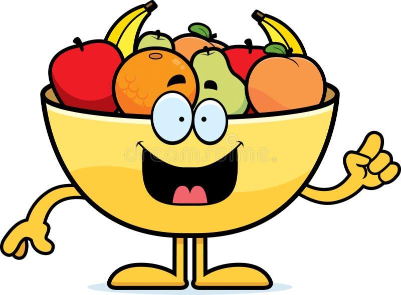 Cuvette de bande dessinée d'idée de fruit illustration libre de droits