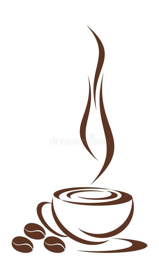 Cuvette de café. illustration de vecteur