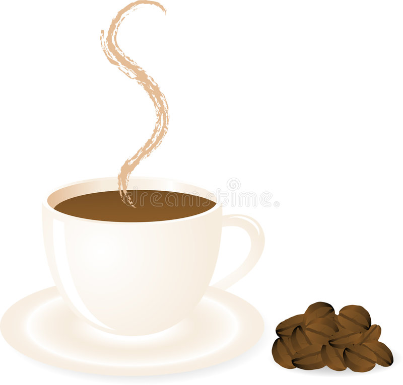 Cuvette de café illustration stock
