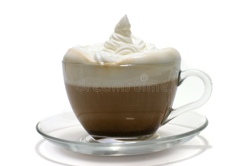 Cuvette de café avec de la crème photo stock