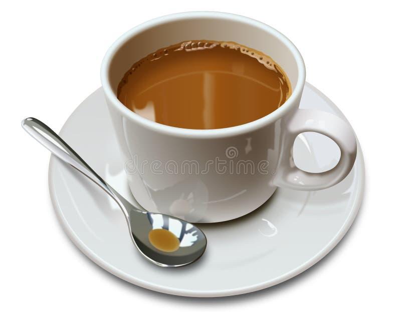 Cuvette de café avec la cuillère photos stock