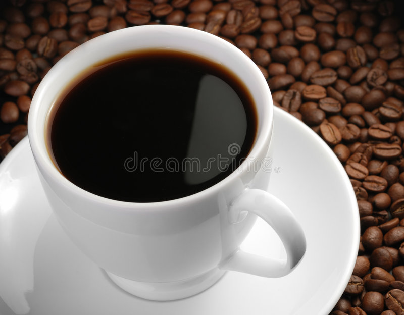 Cuvette de café avec le point culminant image libre de droits