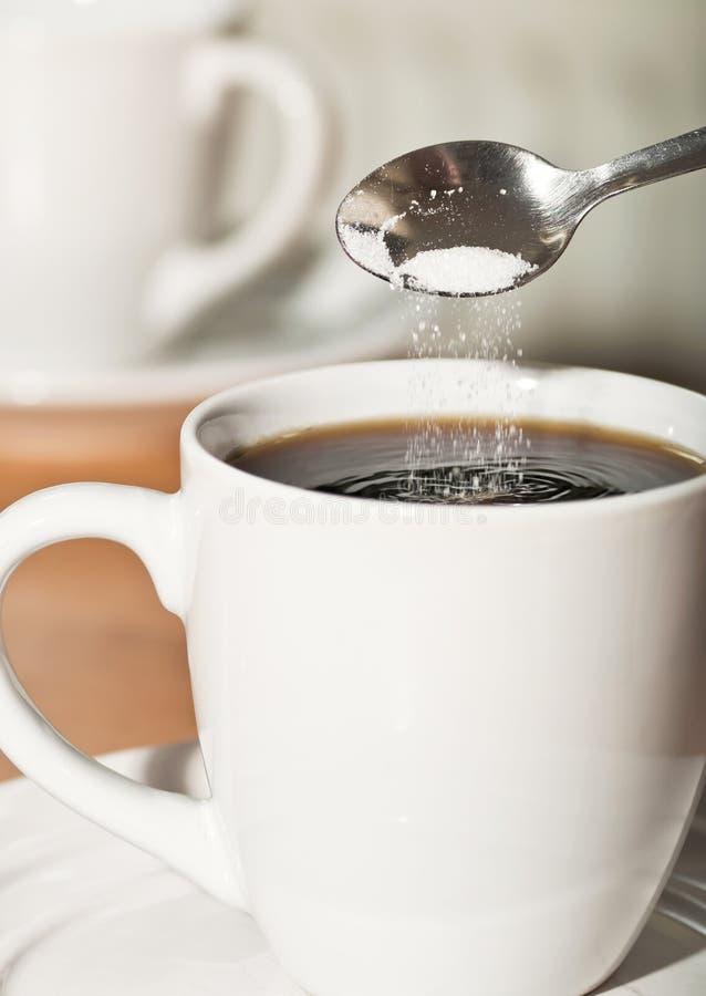 Cuvette de café avec le suger photos stock