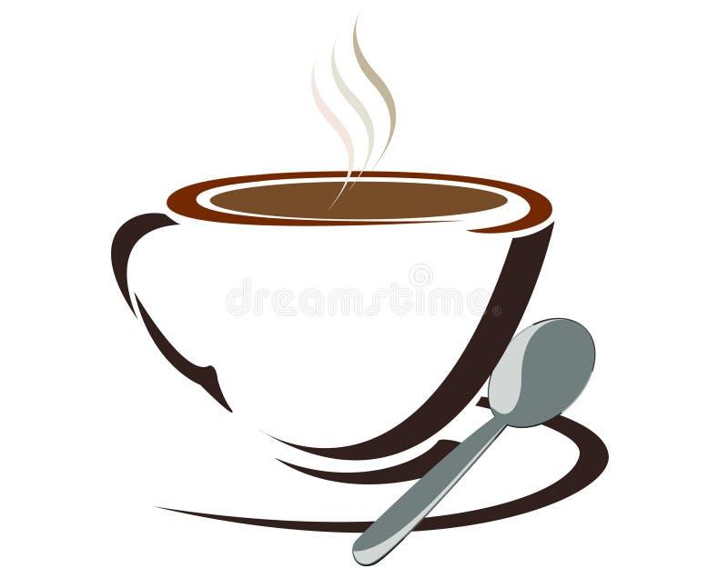 Cuvette de café blanc illustration libre de droits