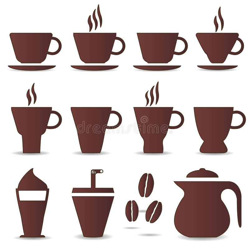 Cuvette de café blanc illustration de vecteur