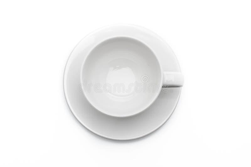 Cuvette de café blanc vide image libre de droits