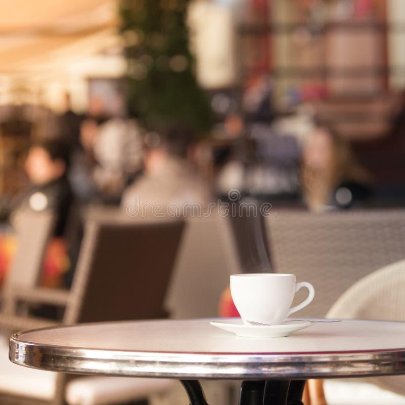 Cuvette de café blanche image libre de droits
