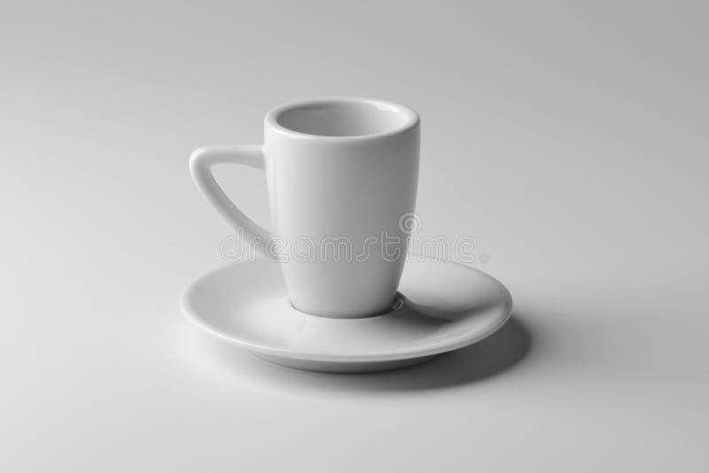 Cuvette de café blanche de porcelaine photo libre de droits