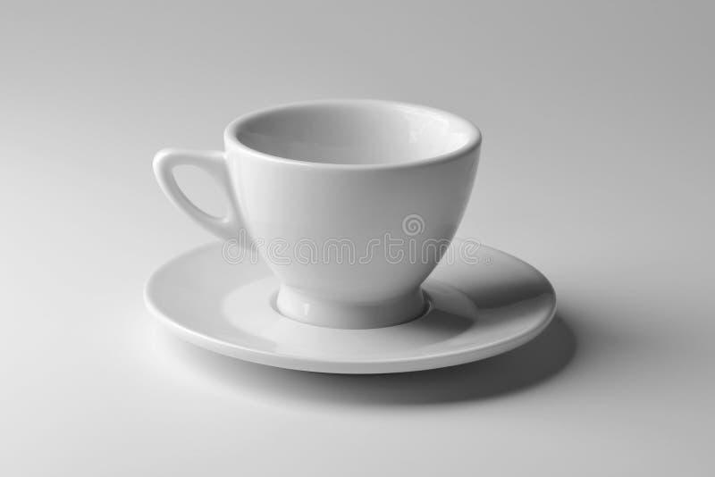 Cuvette de café blanche de porcelaine photographie stock