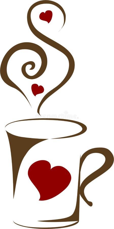 Cuvette de café chaud illustration libre de droits