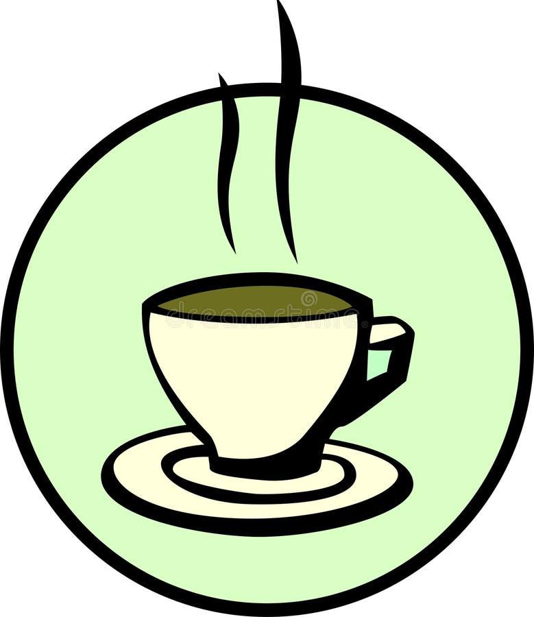 Cuvette de café chaud illustration stock