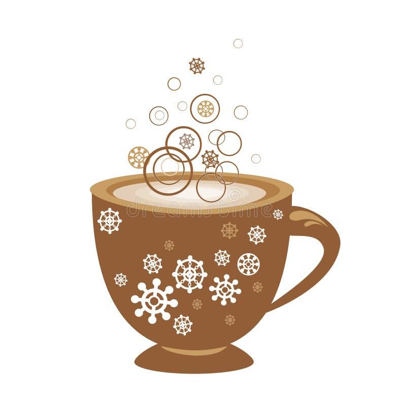 Cuvette de café décorative illustration stock