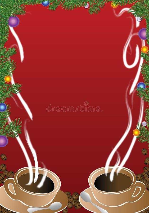 Cuvette de café de Noël photographie stock