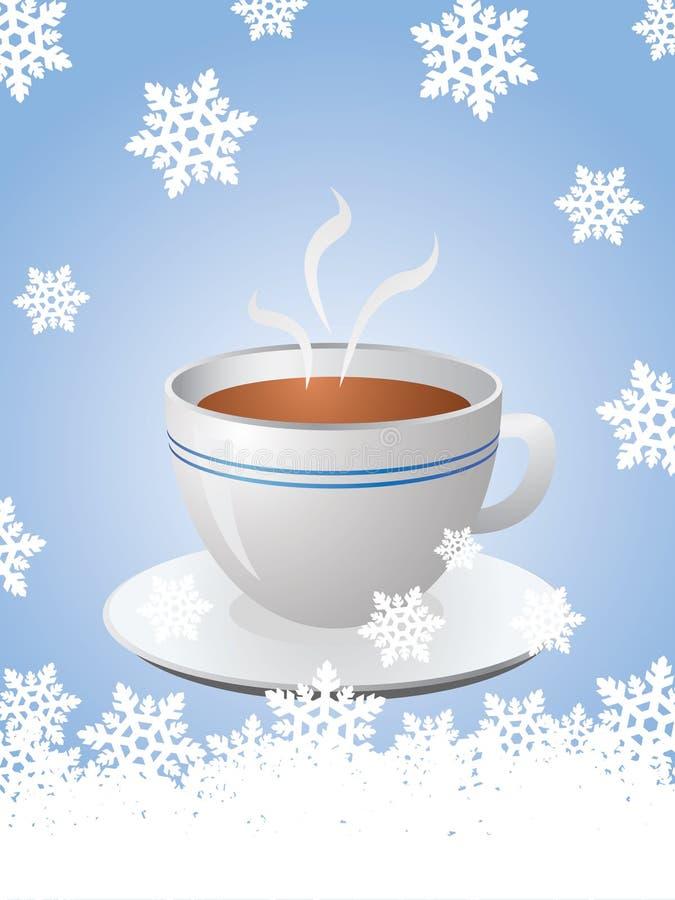 cuvette de café de Noël de carte chaude illustration libre de droits