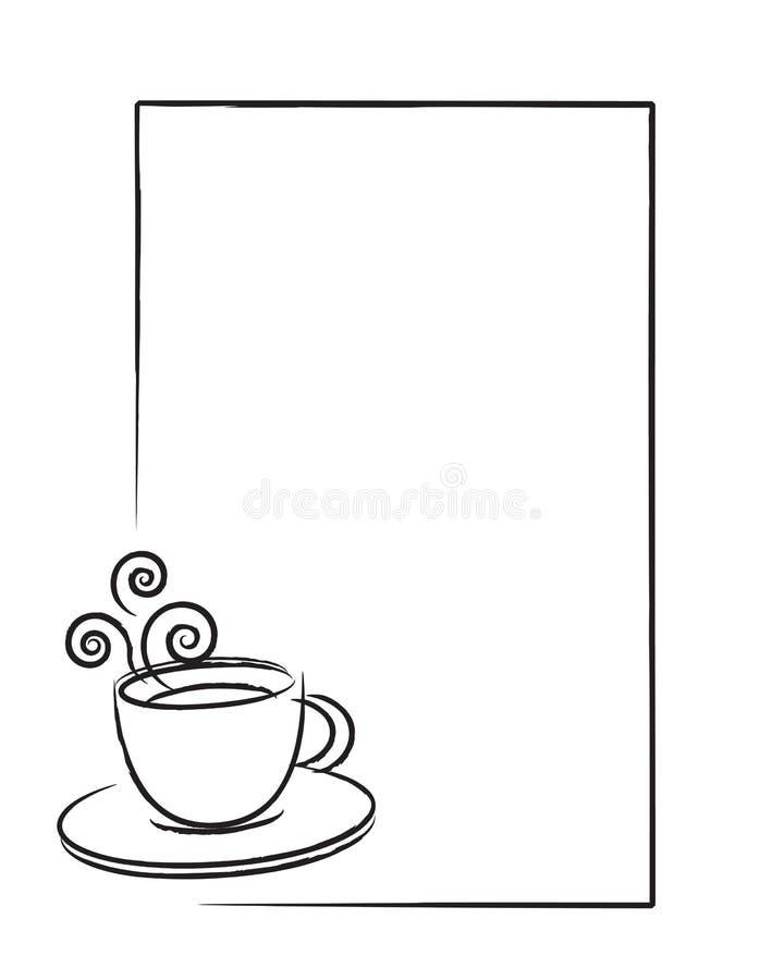 Cuvette de café de vecteur illustration libre de droits