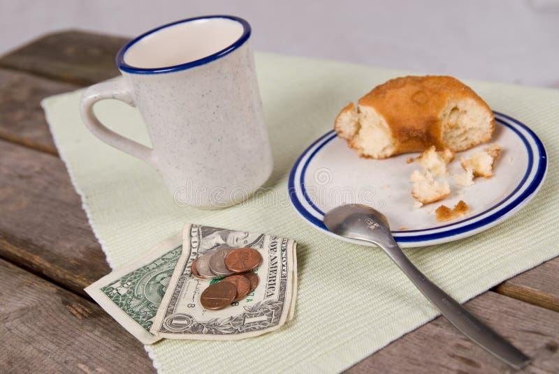 Cuvette de café et de beignet image stock
