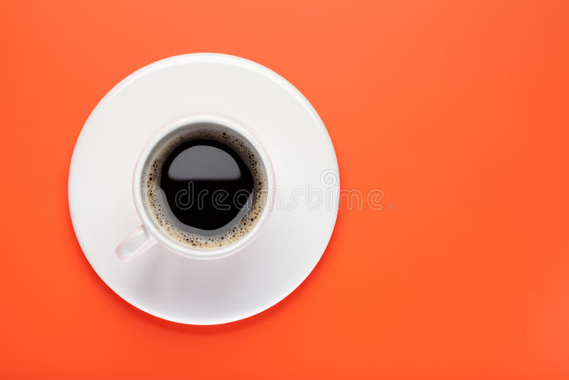 Cuvette de café noir photographie stock libre de droits