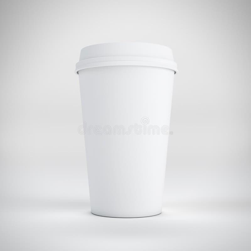 Cuvette de café remplaçable sur le blanc illustration stock
