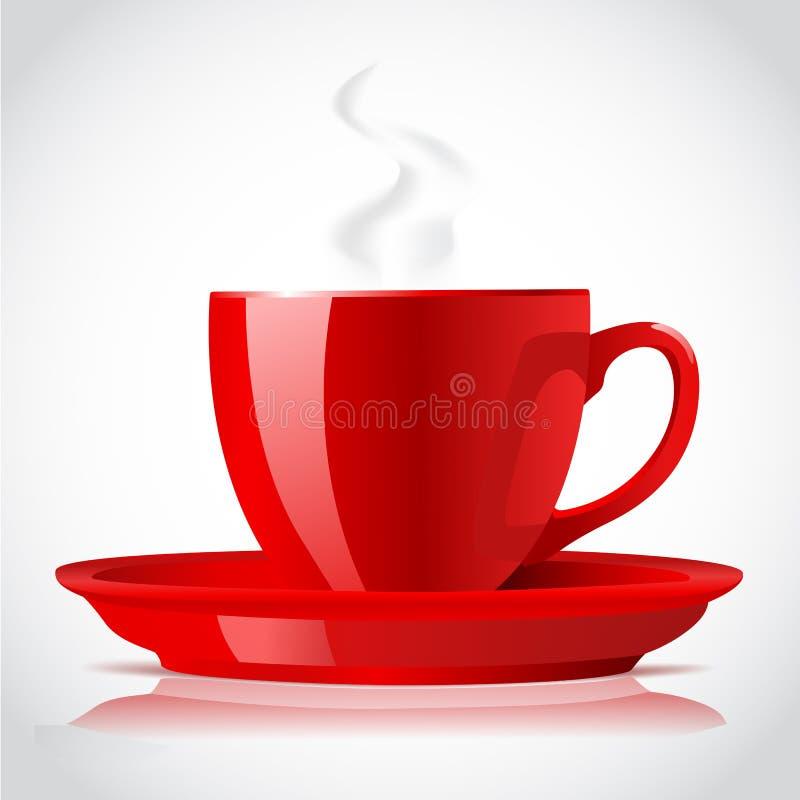 Cuvette de café rouge illustration libre de droits