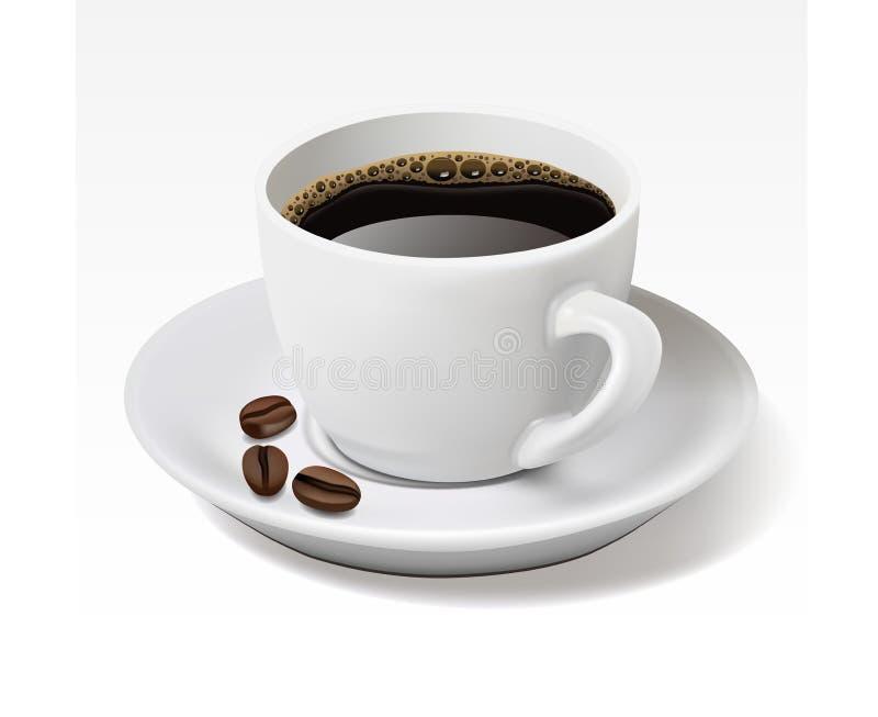 Cuvette de café sur le blanc illustration libre de droits