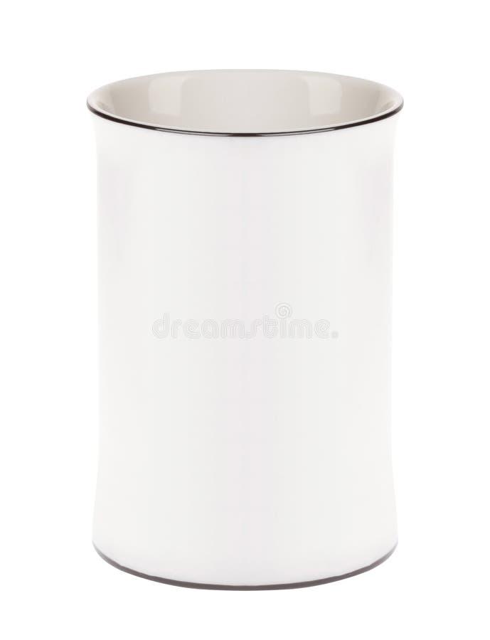 Cuvette de café sur le fond blanc images stock