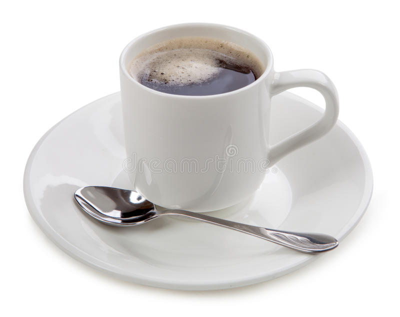 Download Cuvette De Café Sur Le Fond Blanc Photo stock - Image du isolement, latte: 45360734