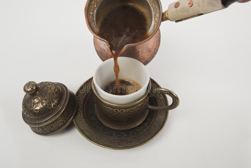 Cuvette de café turc photographie stock libre de droits