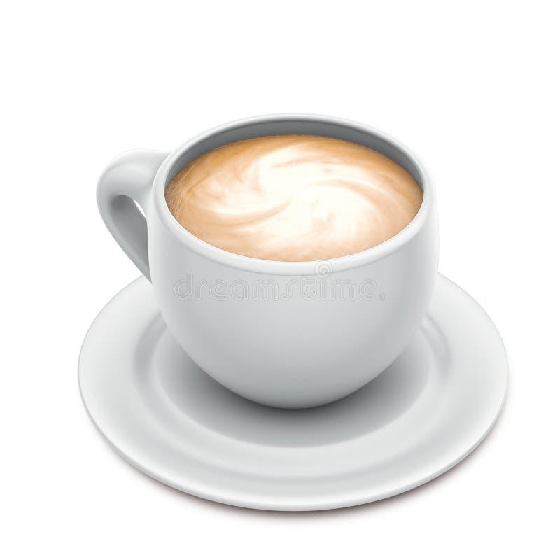 Cuvette de cappuccino illustration stock