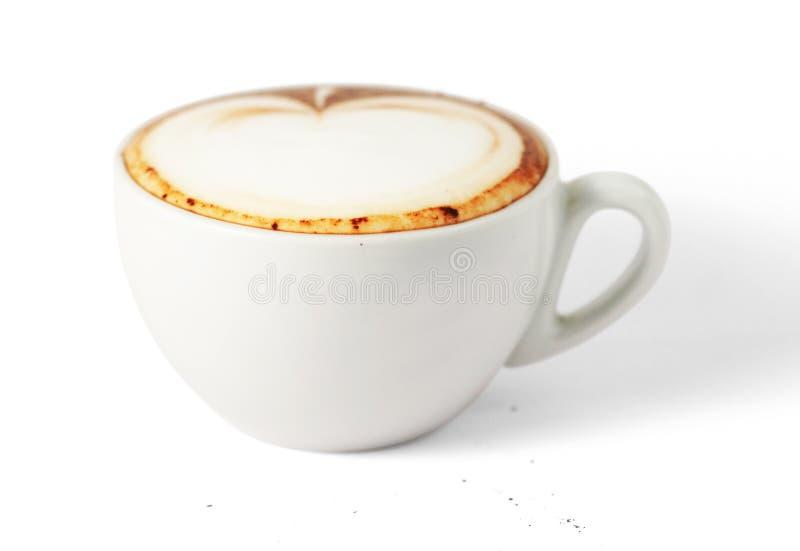 Cuvette de cappuccino image stock