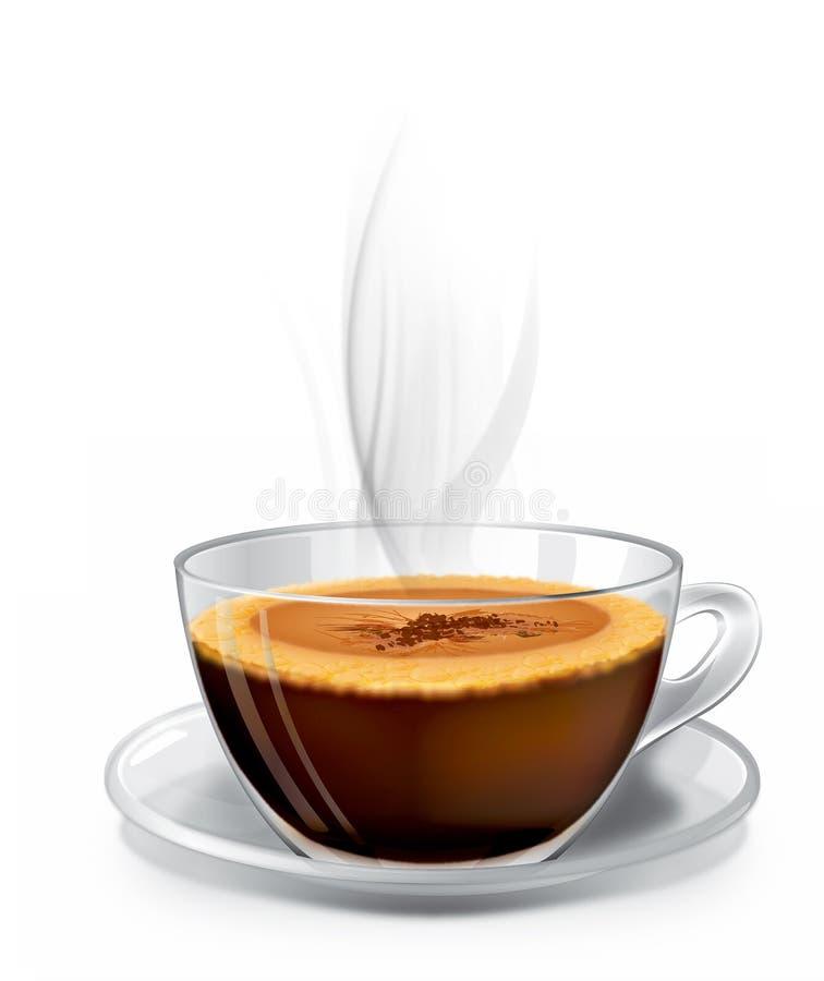 cuvette de cappuccino chaude illustration stock
