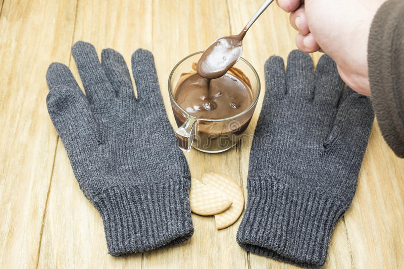 Cuvette de chocolat chaud photographie stock
